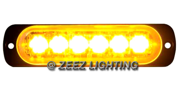 yellow amber 6 led emergency hazard flash warning caution beacon strobe light 96 ebay. Black Bedroom Furniture Sets. Home Design Ideas