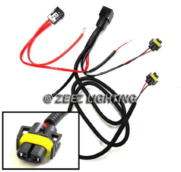 h11 880 relay harness wire kit led hid drl l addon daytime running fog light ebay