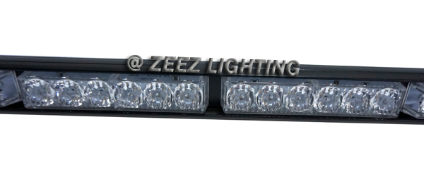 White 36 LED Traffic Advisor Emergency Strobe Beacon Flash Warning Light Bar C94