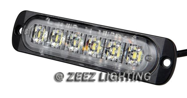 2X Yellow//Amber 12 LED Emergency Hazard Caution Strobe Beacon Warning Light Ba16
