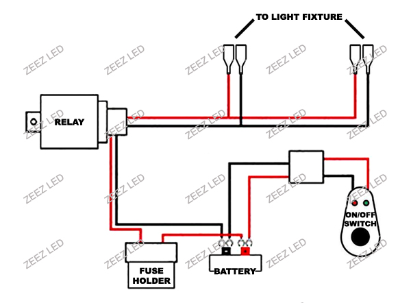 fog light relay harness wiring kit switch hid led drl work