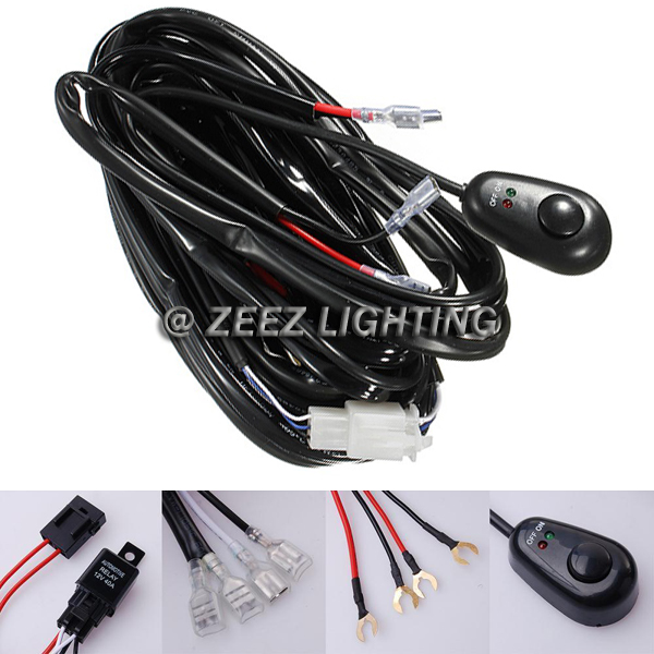 driving fog light switch and wiring harness fog light relay harness wiring kit switch hid led work lamp spot driving bar c05 | ebay